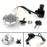 Ignition Switch Seat Gas Cap Cover Lock Key Set For Yamaha XVS1300CU XVS1300