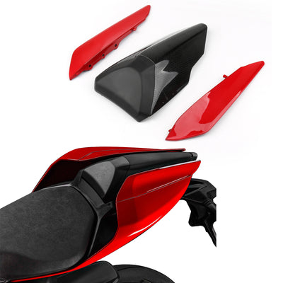 Generic Red Rear Tail Side Seat Panel Trim Fairing Cowl Cover For Ducati 959 1299 15-19