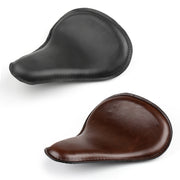 Leather Solo Seat For Harley Chopper Bobber Custom Cruiser Cafe Racer