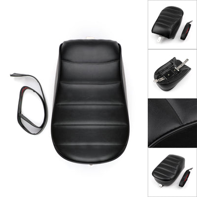 Black Rear Passenger Pillion Seat For Sportster Iron 883 XL883N 2016 2017