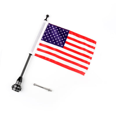 Custom Motorcycle Rear Side Mount Flag Pole with USA Flag For Harley