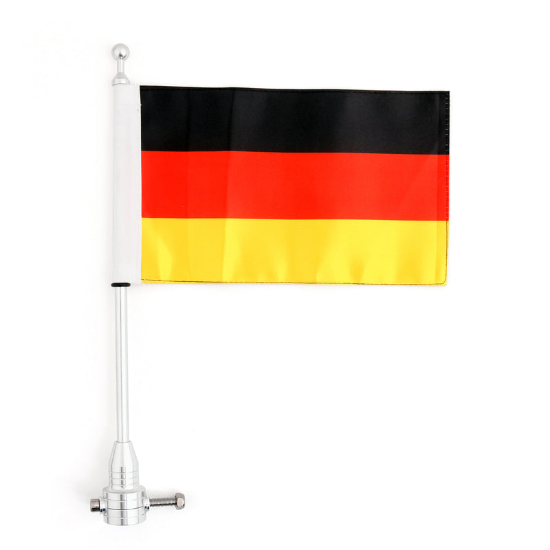 Luggage Rack Vertical Flag Pole & Germany Flag For Harley Softail Iron 883