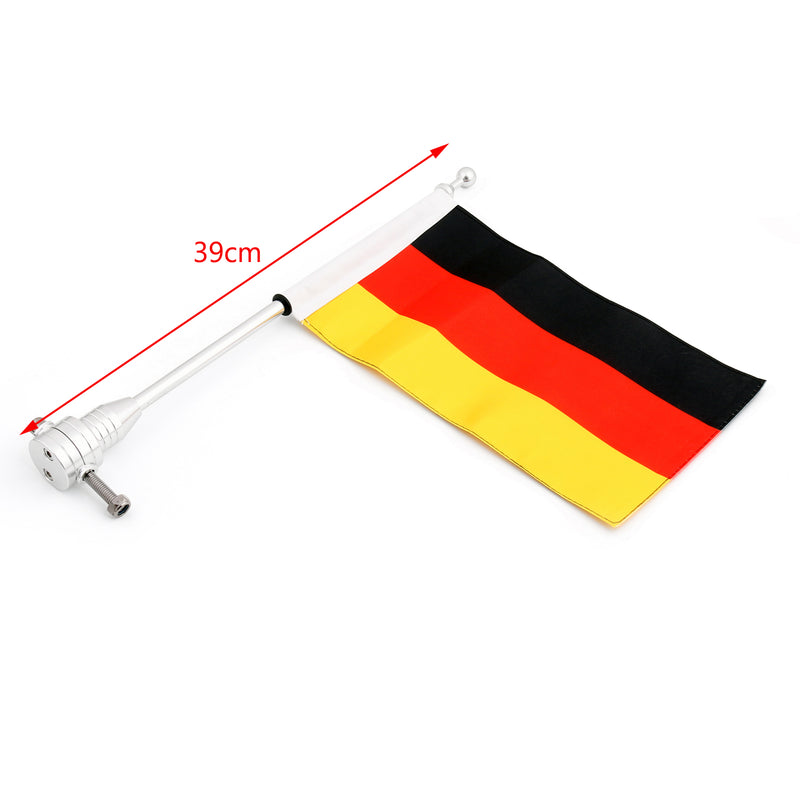 Luggage Rack Vertical Flag Pole & Germany Flag For Harley Softail Iron 883 Generic