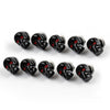 10x Universal Motorcycle Black Skull License Number Plate Frame Screw Bolt