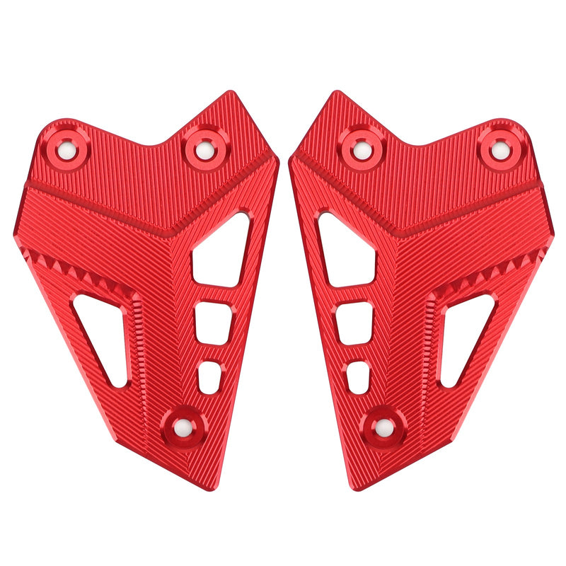 CNC Aluminum Heel Guards Rearset Plates Fit for Kawasaki Z900 ZR900 2017-2020 Generic