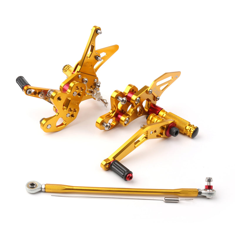 Rearset Rear set Footpegs Adjustable For Suzuki GSXR GSX-R 600/750 2006-2009 Generic