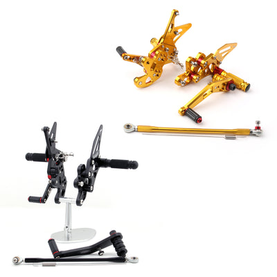 Rearset Rear set Footpegs Adjustable For Suzuki GSXR GSX-R 600/750 2006-2009