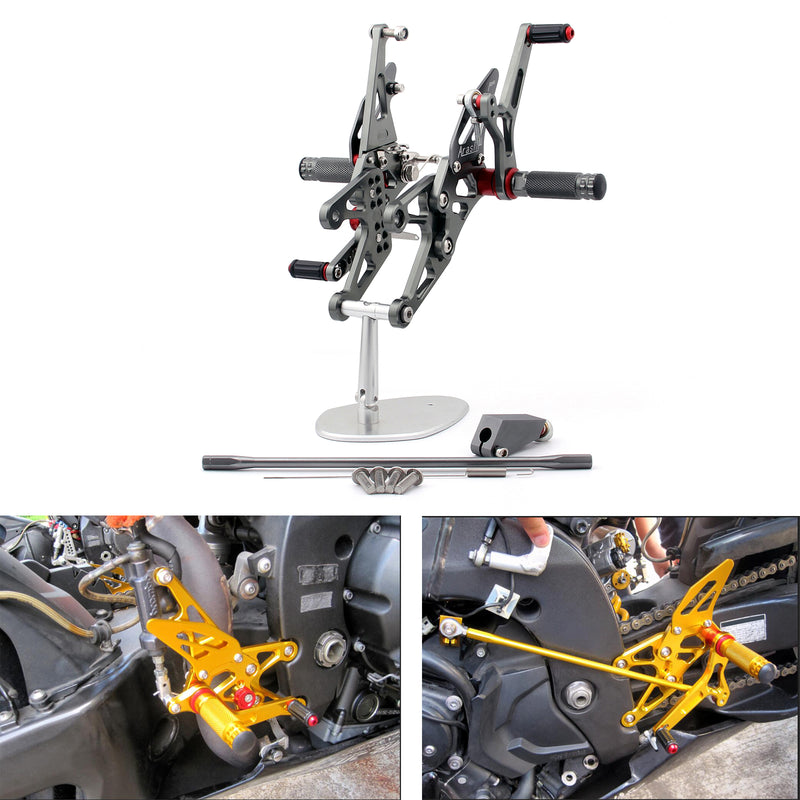 Rearset Rear set Footpegs Adjustable For Yamaha YZF 1000 R1 2007-2008 Generic