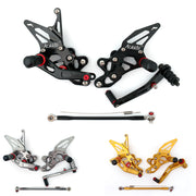 Rearset Rear set Footpegs Adjustable For Suzuki GSXR 600/750 2015