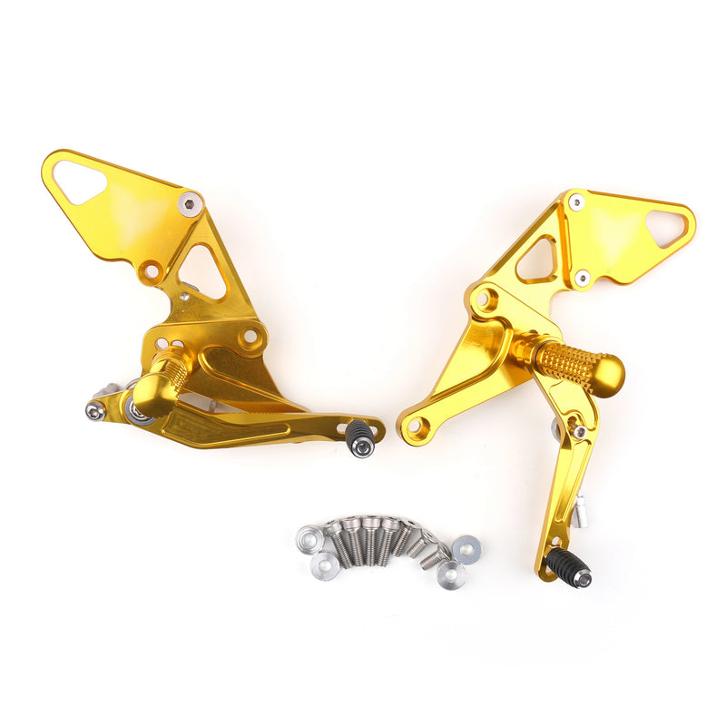 Aluminum Rear Sets Footpegs Footrest Fit for Yamaha MT07 MT-07 FZ07 2014-2020 Generic