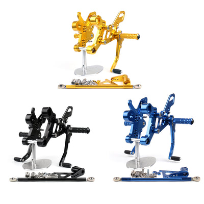Generic Aluminum Rearset Rear Set Footrest Pedal For Yamaha MT-09 FZ-09 2014 2015 2016