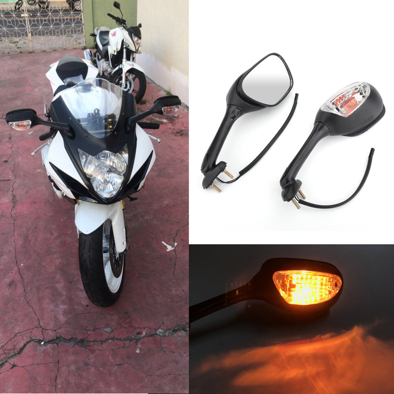 Mirrors Turn Signals For Suzuki GSXR 6 75 26-214 GSXR 1 25-214