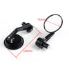 1Pair CNC Motorcycle 3 Round Side Mirror 7/8 Handlebar End For Cafe Racer Generic