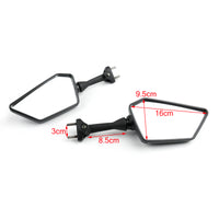 Black Left Right Rear View Mirrors For KAWASAKI NINJA 250R EX250 2008-2013 Generic