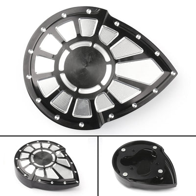 Black Contrast Cut Bahn Tuxedo Right Side Ignition Cover For Victory 2004-17