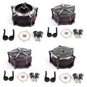 CNC Turbine Air Cleaner Filter For Harley Sportster XL883 XL1200 1991-2016