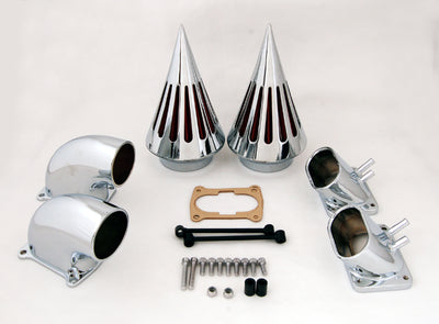 Chrome Spike Air Cleaner Intake Filter For Suzuki Boulevard M109