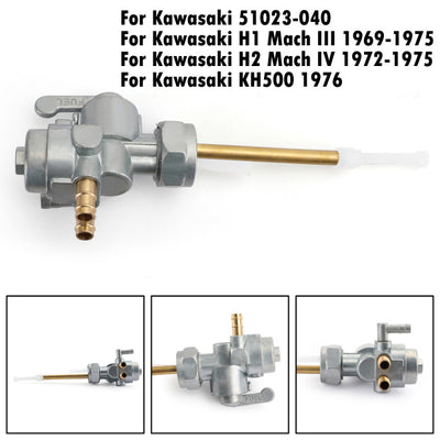Gas Fuel Petrol Valve Petcock 51023-040 For Kawasaki H1 69-75 H2 72-75 KH500 76