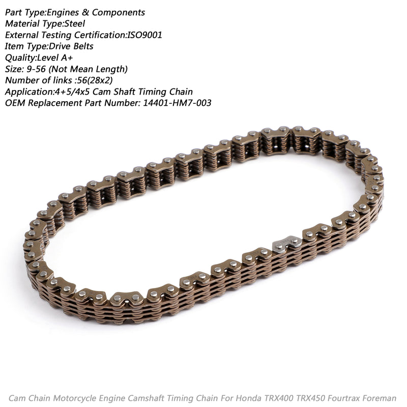 Timing Cam Chain 56 Link For Honda TRX400 TRX450 Fourtrax Foreman 14401-HM7-003 Generic