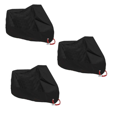 L/XXL/3XL Motorcycle Bike Cover Waterproof Scooter Outdoor Rain UV Protector BLK