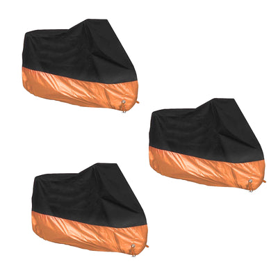 L/XXL/3XL Black&Orange Motorcycle Rain Cover Waterproof For Dyna Electra Glide