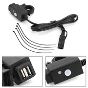 Waterproof Motorcycle SAE to Dual USB Port Charger Adapter For GPS Mobile Phone