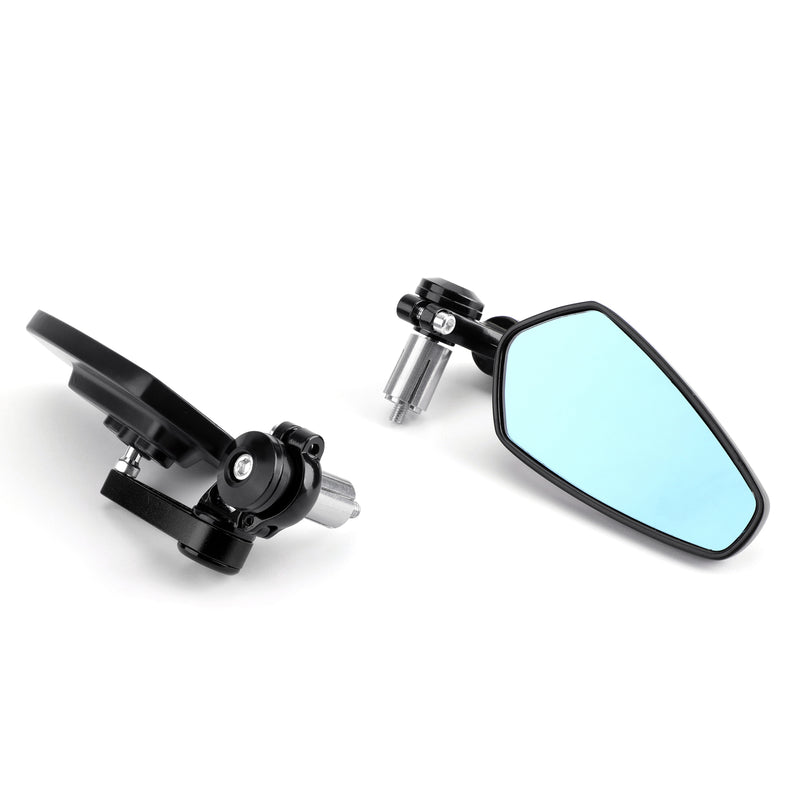 Universal Motorcycle Moto 7/8 22mm Handle Bar End Rearview Side Mirrors Generic