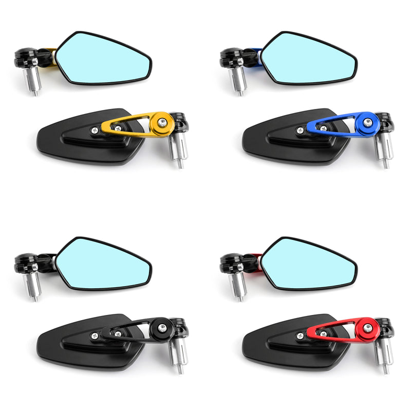 Universal Motorcycle Moto 7/8 22mm Handle Bar End Rearview Side Mirrors