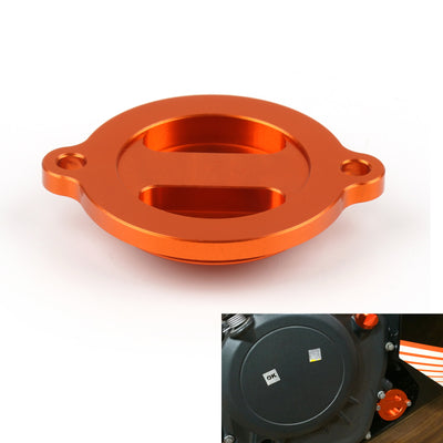 CNC Aluminium Engine Oil Filter Cover Cap For KTM Duke RC 125 200 390
