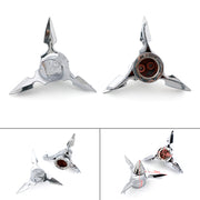 Chrome Spun Blade Spinning Front Axle Cap Nut Cover For Harley Softail Touring