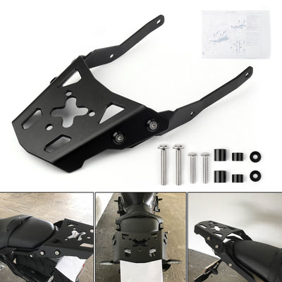 Black Luggage Rack Rear Carrier Plate kit For Yamaha MT-10 2016-2017