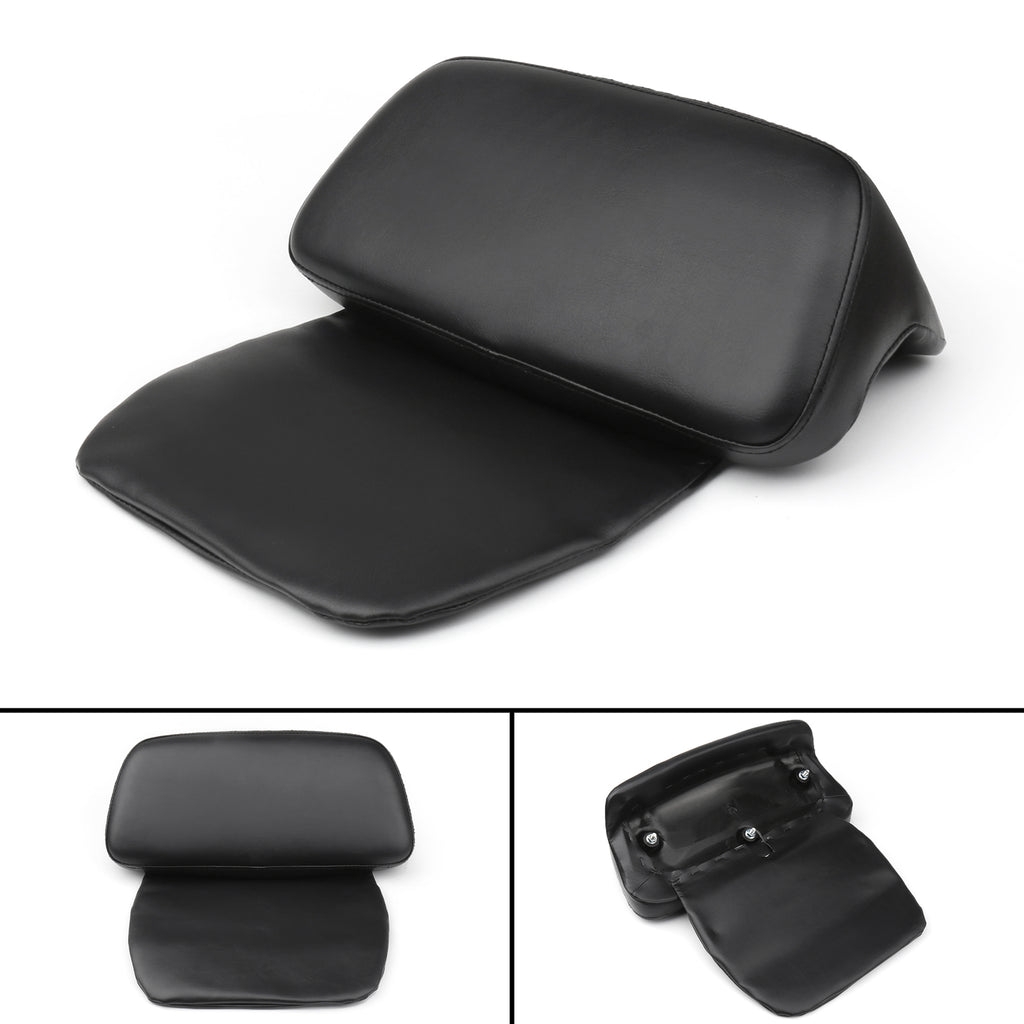 Black Chopped Tour-Pak Backrest Pad For Street Glide Road King 2014-2018 17