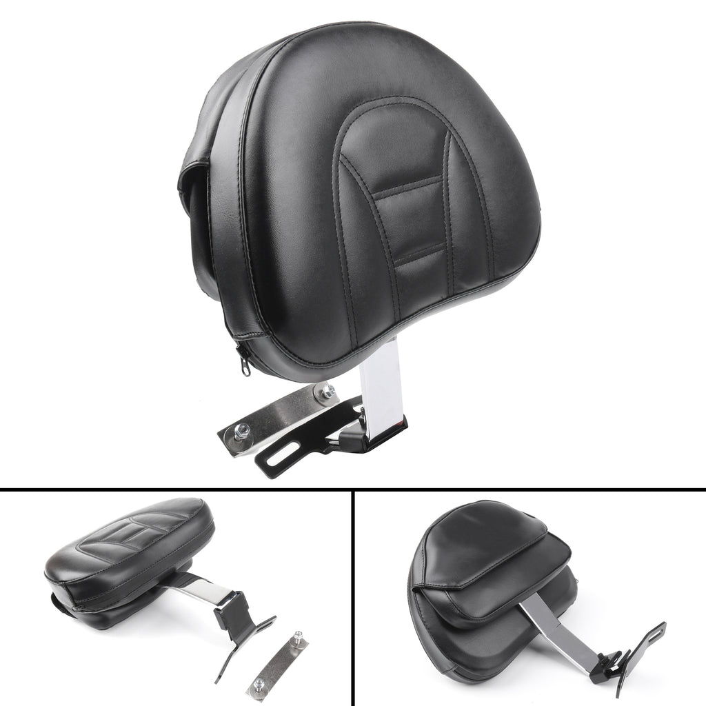 Adjustable Driver Rider Backrest Pad For 07-17 Harley Fatboy Heritage Softail CH