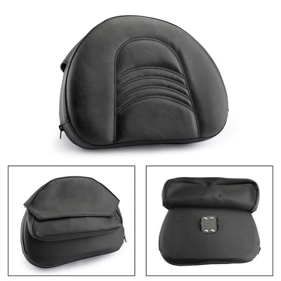 Motorcycle Driver Rider Backrest Cushion Pad For Touring Street Glide