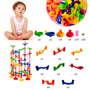 105pcs Kids Marble Run Race Set Railway Building Blocks Construction Track Toy