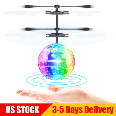 Cracked Flying Ball RC Drone Helicopter Ball Built-in Disco Music Shinning LED