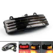 Tri-Bar Rear Fender LED Brake Taillight+Turn Signal Lamp For Harley FLHX Touring