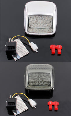 Clear LED Taillight integrated Turn Signals Fit For Harley Deuce All Year