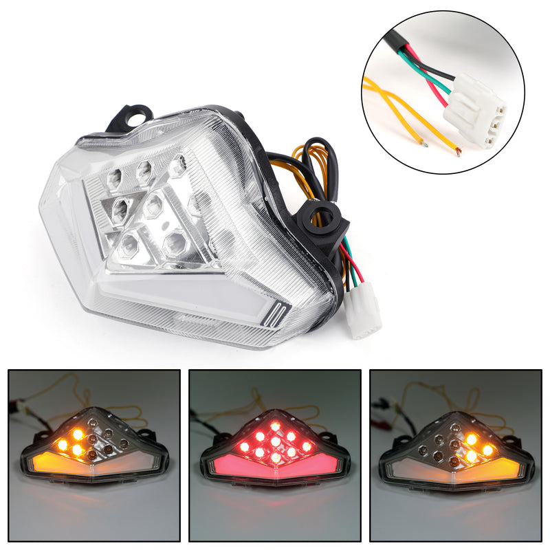 Integrated LED TailLight Turn Signals For Kawasaki ER-6 N/F 212-214 Smoke