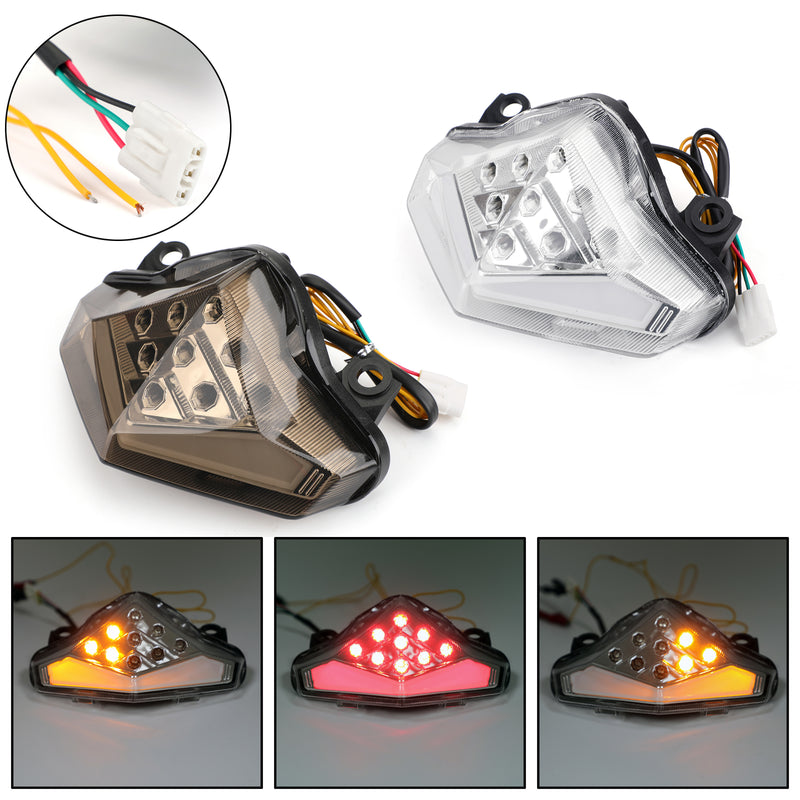 Integrated LED TailLight Turn Signals For Kawasaki ER-6 N/F (12-2014) 2 Color