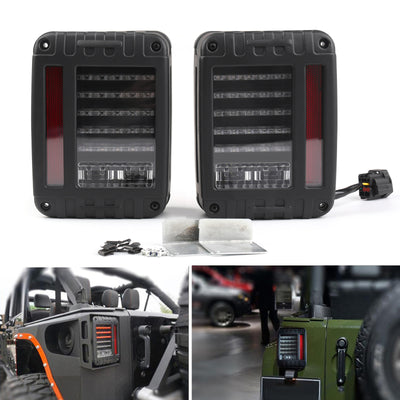 LED Tail Lights Rear Brake Reverse Lamps For Jeep Wrangler JK 27-217 US Model