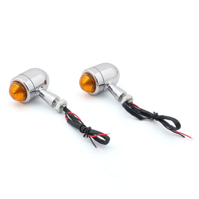 2x Bullet Mini Heavy Duty Motorcycle Turn Signal Indicators Light Blinkers