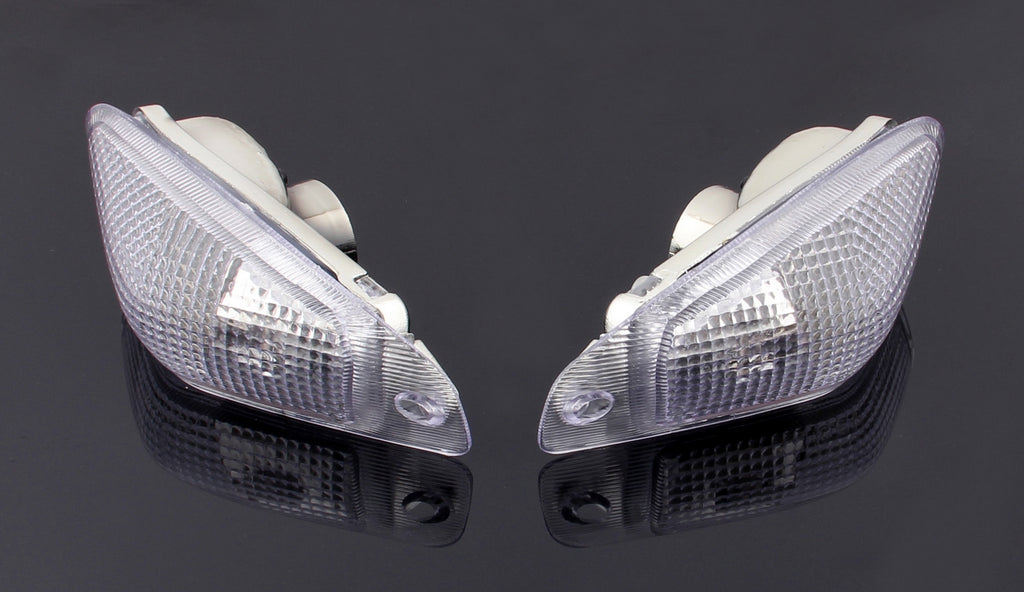 Front Turn Signals Lens Kawasaki ZZR600 ZX600E 1994-2004 Clear