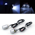 Motorcycle Fender Eliminator Kit White LED License Plate Lights Bolts Silver