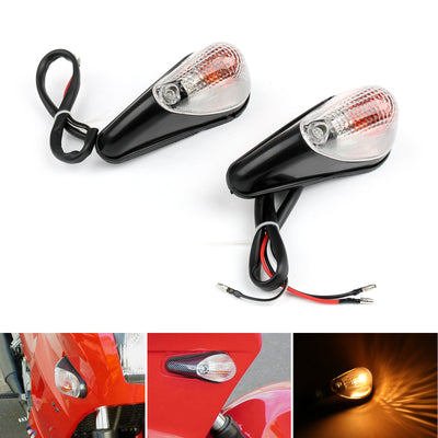 Clear Front Turn Signals For Kawasaki Ninja EX 250 1988-2007
