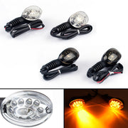 Front Rear LED Turn Signals Blinker Indicator Amber Kawasaki NINJA 250R 08-12 C