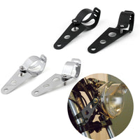 Universal Side Mount Headlight Brackets Fit Motorcycles With 34-46mm Fork Tubes