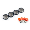 4x Turn Signal Lens Bulbs For Harley Softail Dyna Sportsters (2002-18) Generic
