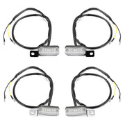 1 Pair Universal Motorcycle LED Front Turn Signal Lamp Indicator Light