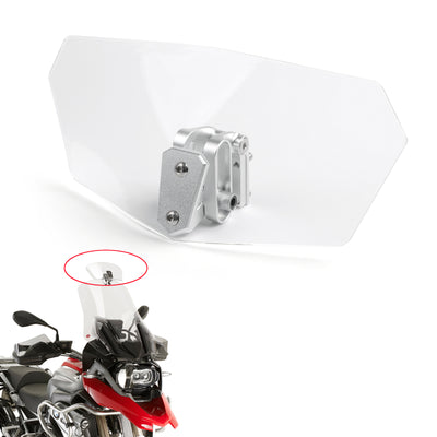 Universal Motorcycle motobike Windshield Windscreen Transparent Spoiler Shield